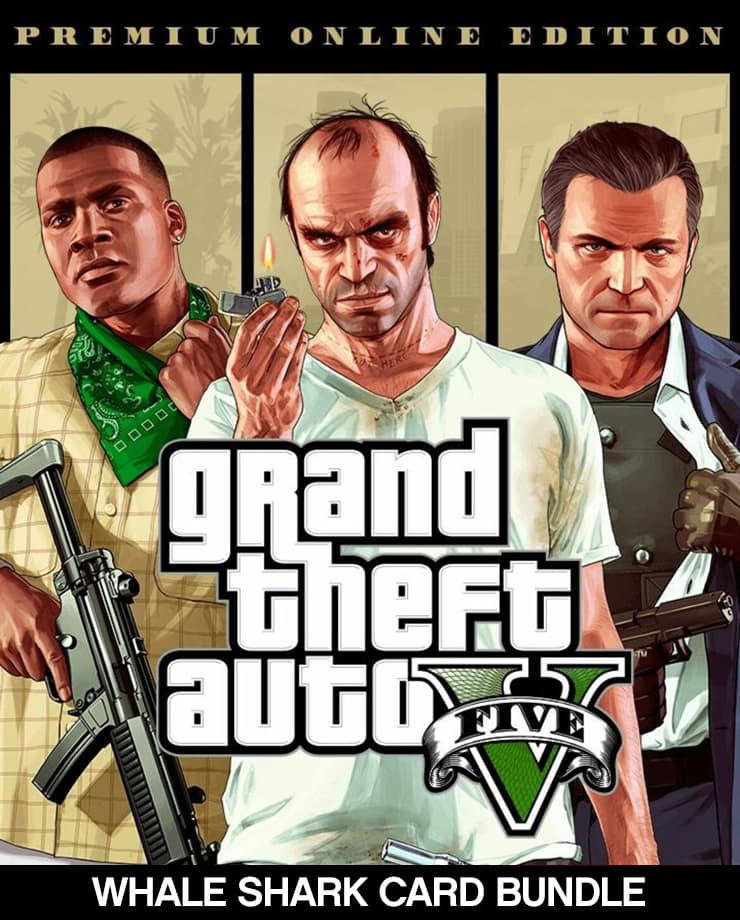 Grand Theft Auto V: Premium Online Edition + Whale Shark Card Bundle